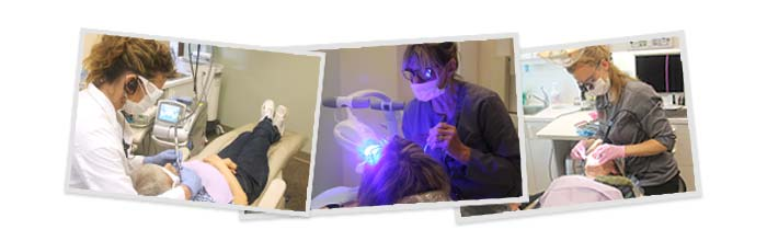 Team using the latest dental and laser technology